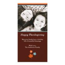 Modern Thanksgiving Fall Leaves Card