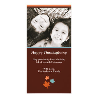 Modern Thanksgiving Fall Leaves Card at Zazzle