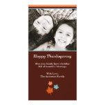 Modern Thanksgiving Fall Leaves Photo Card