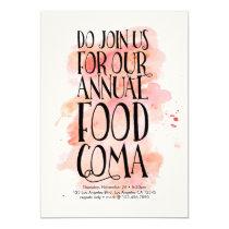 Modern Thanksgiving Food Coma Invitation