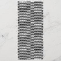 Modern Thin Black White Chevron Stripes Pattern