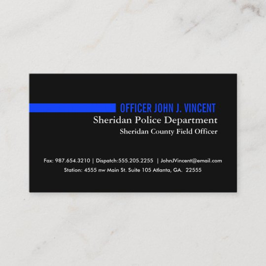 modern thin blue line police business card - Police Business Cards