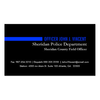 Police Business Card Templates