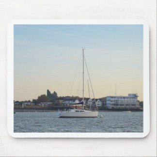Modern Thirty Foot Yacht Mouse Pad