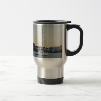 Modern Thirty Foot Yacht 15 Oz Stainless Steel Travel Mug