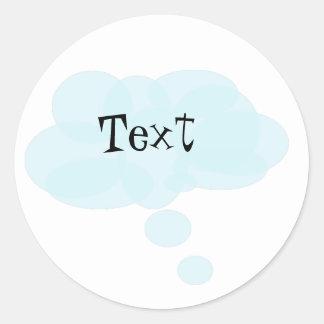 Modern thought bubble Sticker. Classic Round Sticker