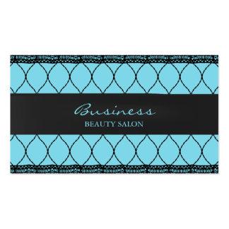 Modern Tiffany Blue Fishnet Lace Beauty Salon Business Card