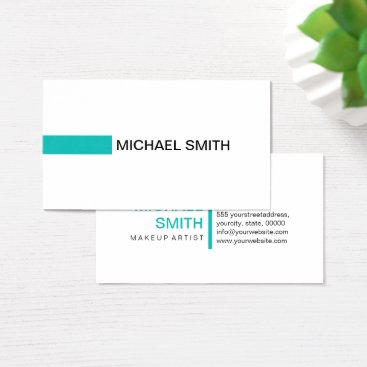 McTiffany Tiffany Aqua Modern Tiffany Blue Professional Plain White Business Card