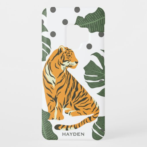 Modern Tiger and Jungle Leaves Art Case-Mate Samsung Galaxy S9 Case