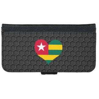 Modern Togolese flag iPhone 6 Wallet Case