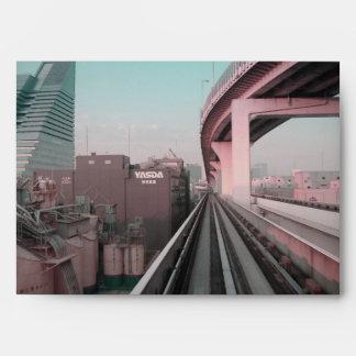 Modern Tokyo train Envelope