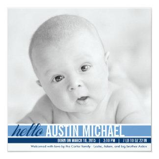 Modern Tones Birth Announcements - Blue