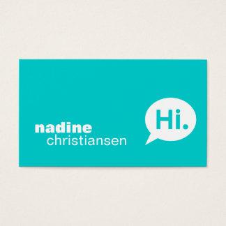 Modern Torquoise Profile Card