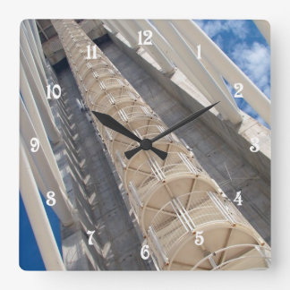 Modern tower square wall clock