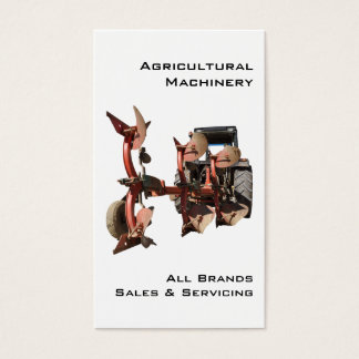 Modern tractor and plow business card