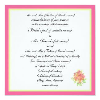 Modern Traditional Wedding Card