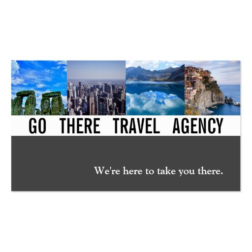 Modern Travel Agency Agent Business Card