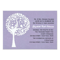 Modern Tree Bat Mitzvah Invitation