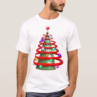 MODERN TREE CHRISTMAS CARTOON Men's Basic T-Shirt