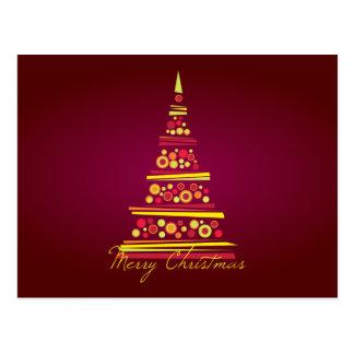 Modern Tree Christmas Postcard