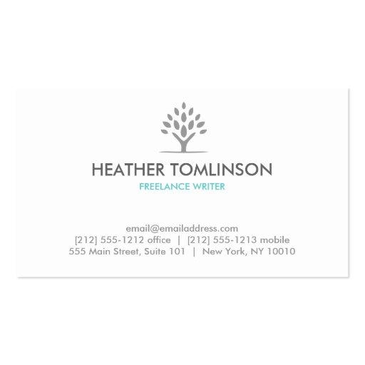 MODERN TREE GRAY/WHITE Business Card