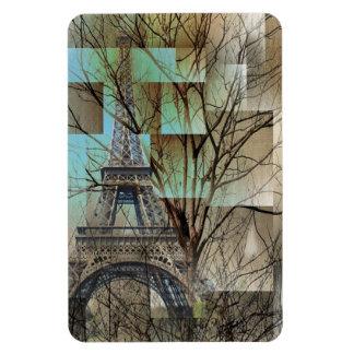 modern tree landscape paris eiffel tower magnet