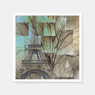 modern tree landscape paris eiffel tower napkin