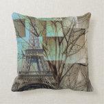 modern tree landscape paris eiffel tower pillows