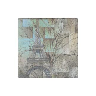 modern tree landscape paris eiffel tower stone magnet