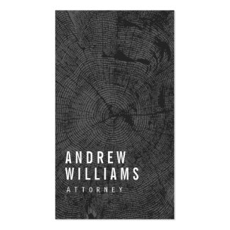 Modern Tree Rings Attorney, Lawyer Double-Sided Standard Business Cards (Pack Of 100)