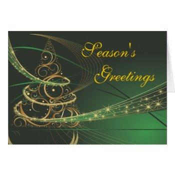 Modern Tree Season's Greetings Christmas Card