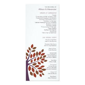 Modern Tree Wedding Program Personalized Invites