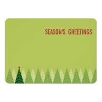 Modern Trees Holiday Greetings Card