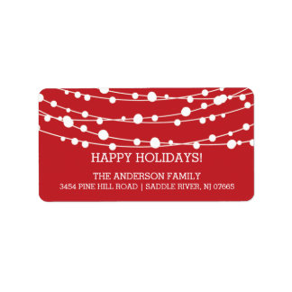 Modern Trees Holidays Christmas Return Address Label