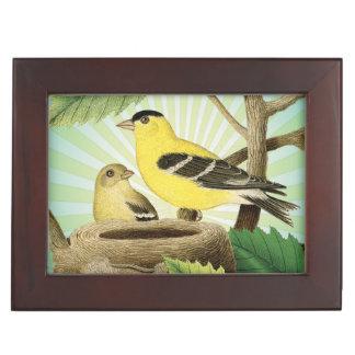 modern trend birds and nest keepsake box