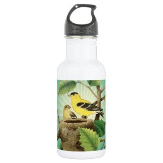 modern trend birds and nest stainless steel water bottle