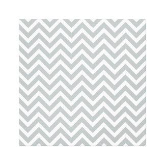 modern trend grey chevron canvas print