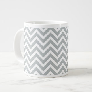 modern trend grey chevron large coffee mug