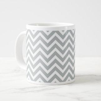 modern trend grey chevron 20 oz large ceramic coffee mug