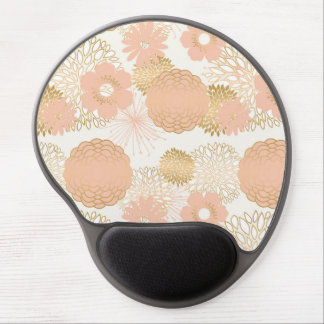 modern trends blush flower blooms gel mouse pad