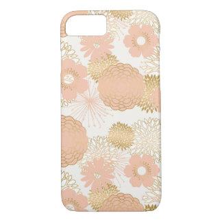 modern trends blush flower blooms iPhone 8/7 case