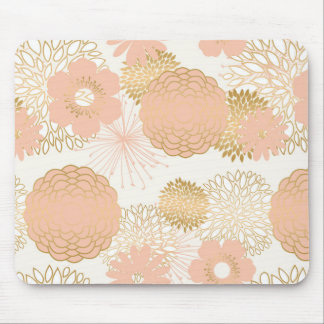modern trends blush flower blooms mouse pad