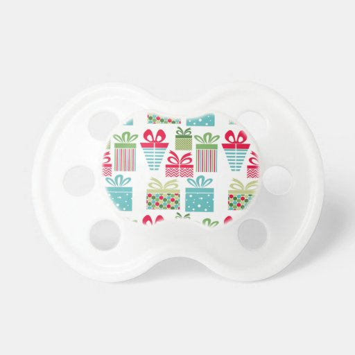 Modern Trends Christmas Presents Pacifier Zazzle