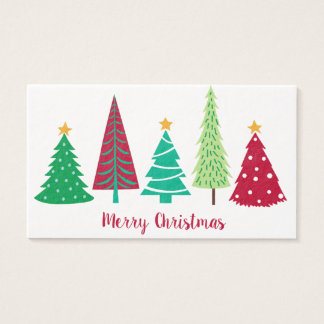 Modern trends Christmas Trees Business Card