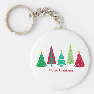Modern trends Christmas Trees Keychain