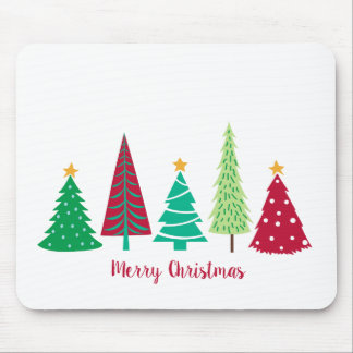 Modern trends Christmas Trees Mouse Pad
