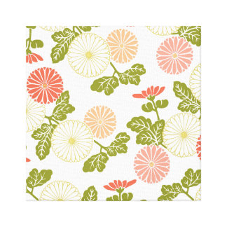 modern trends coral floral canvas print