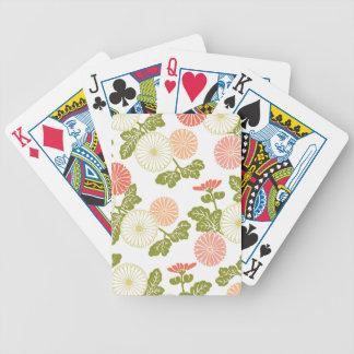 modern trends coral floral bicycle card decks