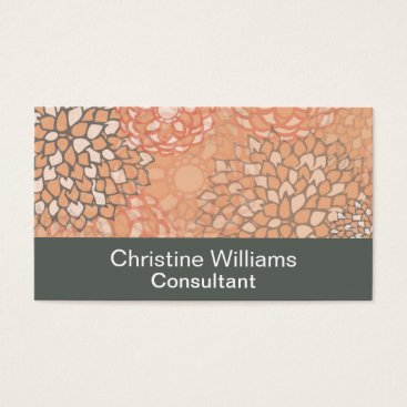 Professional Business Modern Trends Floral Business Card