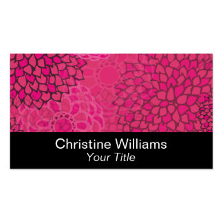 Modern Trends Floral Double-Sided Standard Business Cards (Pack Of 100)
